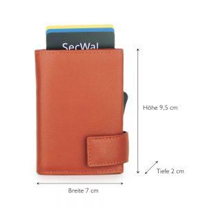 SecWal kaarthouder met portemonnee_leder_oranje_5