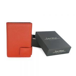 SecWal kaarthouder met portemonnee_leder_oranje_7