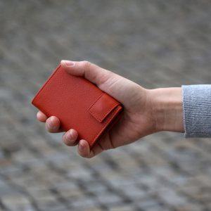 SecWal kaarthouder met portemonnee_leder_oranje_8