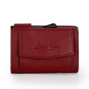 SecWal kaarthouder met portemonnee_leder_rood