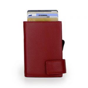 SecWal kaarthouder met portemonnee_leder_rood_2