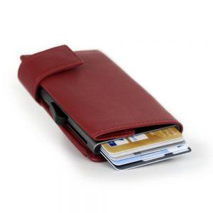 SecWal kaarthouder met portemonnee_leder_rood_3