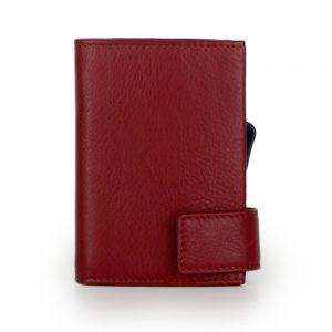 SecWal kaarthouder met portemonnee_leder_rood_6