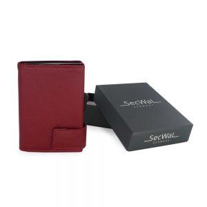 SecWal kaarthouder met portemonnee_leder_rood_7
