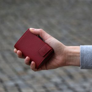SecWal kaarthouder met portemonnee_leder_rood_8