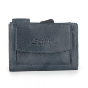 SecWal kaarthouder met portemonnee_leder_vintage blauw