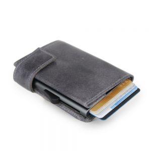 SecWal kaarthouder met portemonnee_leder_vintage grijs_11
