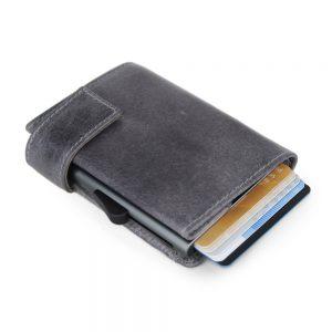 SecWal kaarthouder met portemonnee_leder_vintage grijs_3