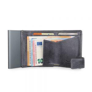 SecWal kaarthouder met portemonnee_leder_vintage grijs_4
