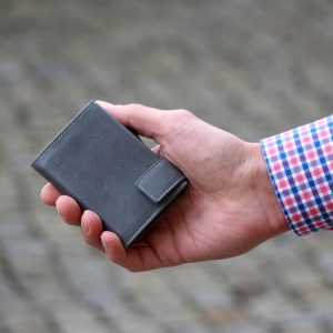 SecWal kaarthouder met portemonnee_leder_vintage grijs_8