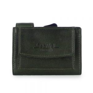 SecWal kaarthouder met portemonnee_leder_vintage groen