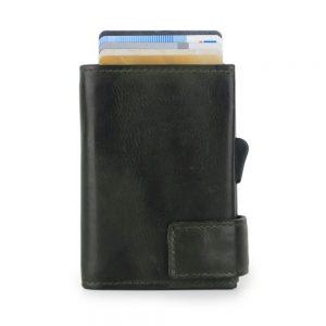 SecWal kaarthouder met portemonnee_leder_vintage groen_2