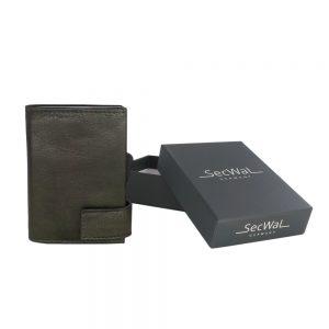 SecWal kaarthouder met portemonnee_leder_vintage groen_7