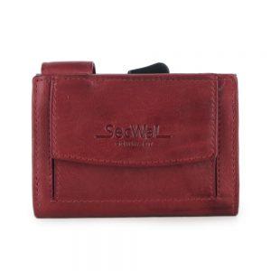 SecWal kaarthouder met portemonnee_leder_vintage rood