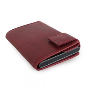SecWal kaarthouder met portemonnee_leder_vintage rood_10