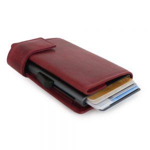SecWal kaarthouder met portemonnee_leder_vintage rood_11