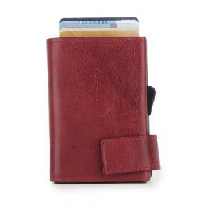 SecWal kaarthouder met portemonnee_leder_vintage rood_2