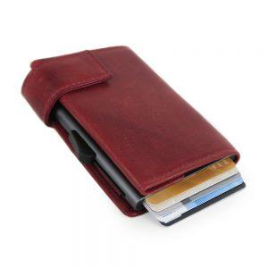 SecWal kaarthouder met portemonnee_leder_vintage rood_3