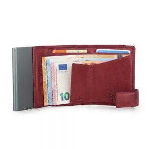 SecWal kaarthouder met portemonnee_leder_vintage rood_4