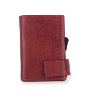 SecWal kaarthouder met portemonnee_leder_vintage rood_6