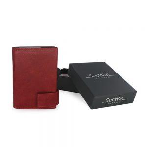 SecWal kaarthouder met portemonnee_leder_vintage rood_7