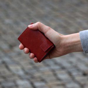 SecWal kaarthouder met portemonnee_leder_vintage rood_8