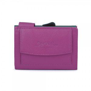 SecWal kaarthouder met portemonnee_leder_violet