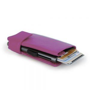 SecWal kaarthouder met portemonnee_leder_violet_10