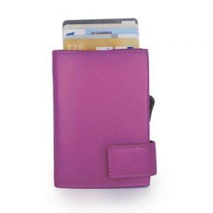SecWal kaarthouder met portemonnee_leder_violet_2
