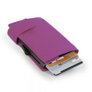 SecWal kaarthouder met portemonnee_leder_violet_3