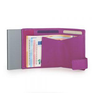 SecWal kaarthouder met portemonnee_leder_violet_4