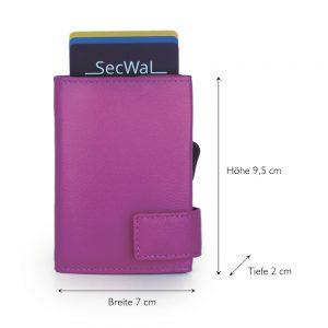 SecWal kaarthouder met portemonnee_leder_violet_5