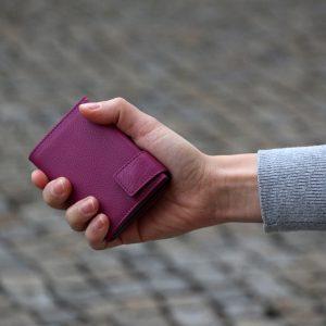 SecWal kaarthouder met portemonnee_leder_violet_8