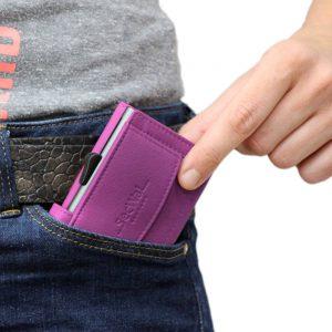 SecWal kaarthouder met portemonnee_leder_violet_9