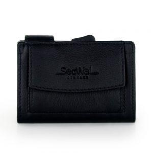 SecWal kaarthouder met portemonnee_leder_zwart