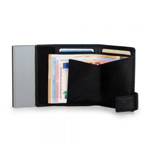 SecWal kaarthouder met portemonnee_leder_zwart_4