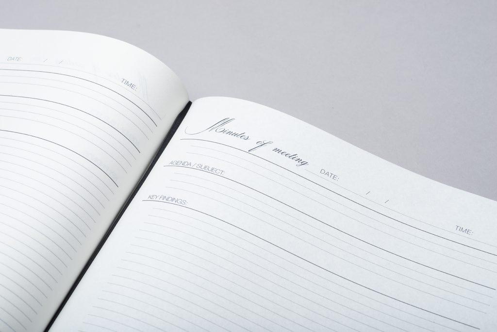 agenda hardcover ronde hoeken met eigen logo