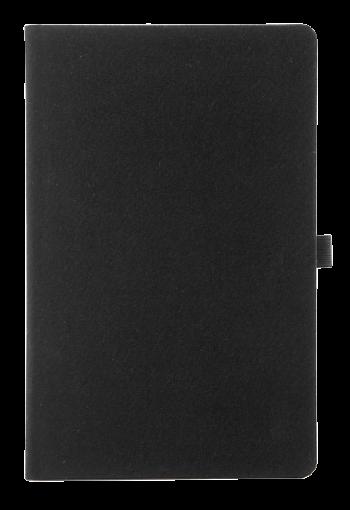 linnen notitieboek zwart
