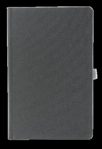 linnen notitieboek met eigen logo grijs