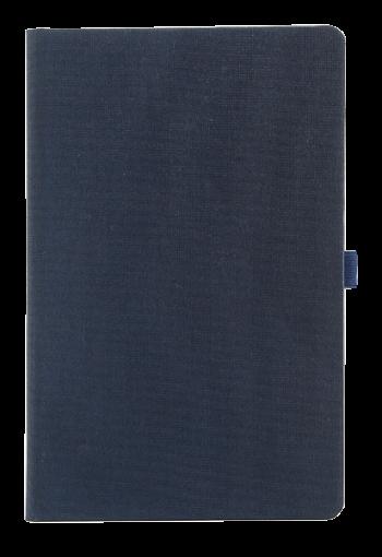 Linnen notitieboek donkerblauw