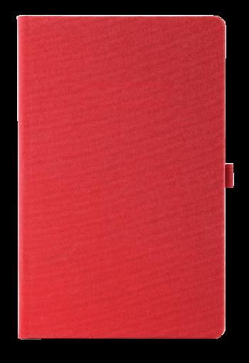 linnen notitieboek rood