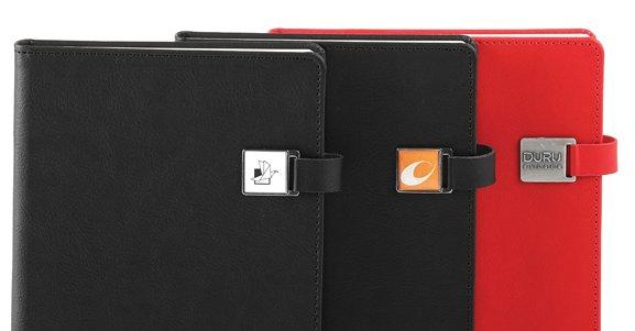 notitieboek met magnetische sluiting met eigen logo