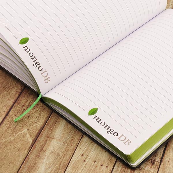 bedrukking notitieboeken met logo op pagina's