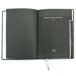 notitieboek met tabs