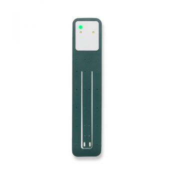 Moleskine leeslamp groen bedrukt met eigen logo