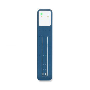 Moleskine leeslamp blauw bedrukt met eigen logo