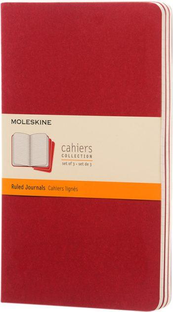 Moleskine cahier Rood bedrukken