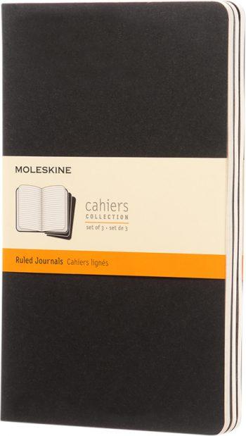 Moleskine Cahier Zwart bedrukt met logo