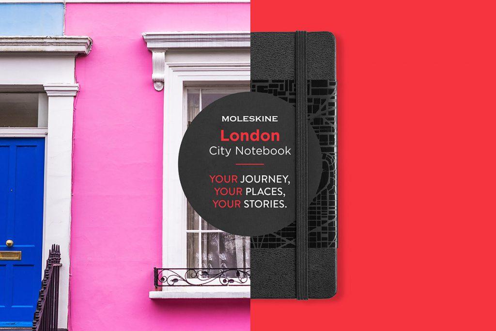 CITY Notebook moleskine met eigen logo bedrukt londen