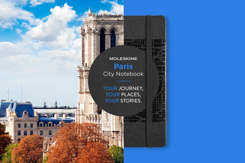 city notebook met eigen logo Parijs